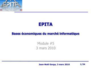 EPITA Bases économiques du marché informatique
