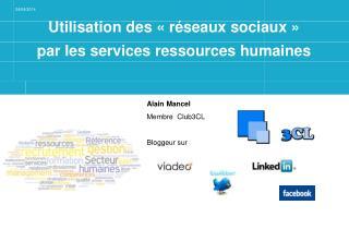 Utilisation des «réseaux sociaux» par les services ressources humaines