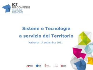 Sistemi e Tecnologie  a servizio del Territorio