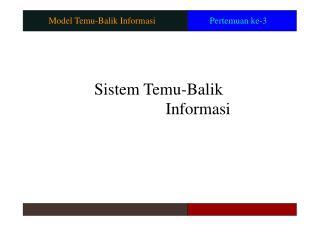 Model Temu-Balik Informasi