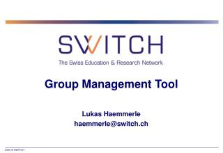 Group Management Tool