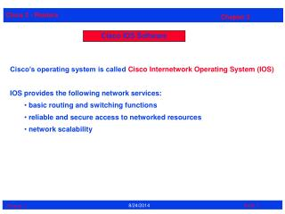 Cisco IOS Software