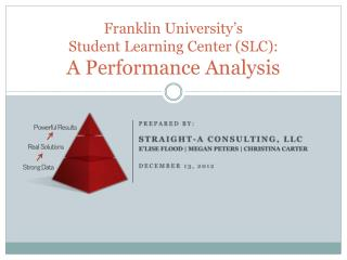 Franklin University's  Student Learning Center (SLC):  A Performance Analysis