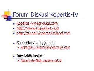 Forum Diskusi Kopertis-IV