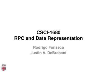 CSCI-1680 RPC and Data Representation