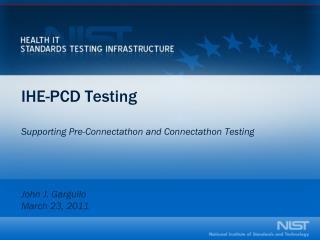IHE-PCD Testing