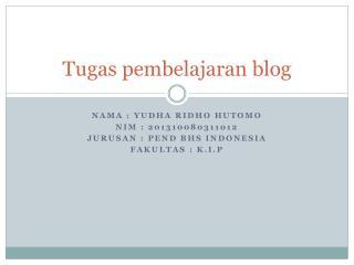 Tugas pembelajaran blog