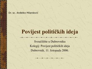 Povijest političkih ideja