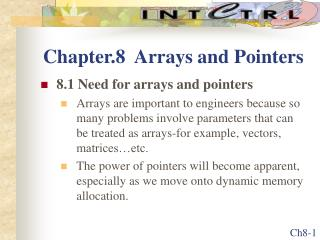 Chapter.8  Arrays and Pointers