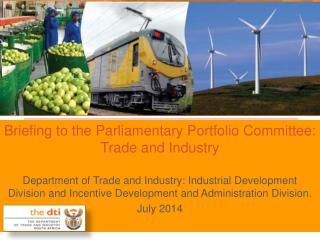 Briefing to the Parliamentary Portfolio Committee: Trade and Industry
