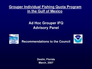 Grouper Individual Fishing Quota Program  in the Gulf of Mexico