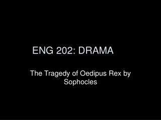 the tragedy of oedipus by sophocles