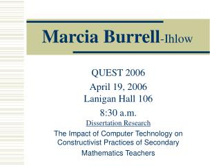 Marcia Burrell-Ihlow
