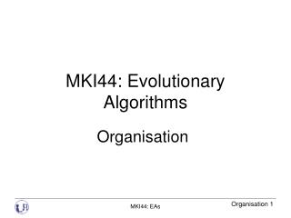 MKI44: Evolutionary Algorithms