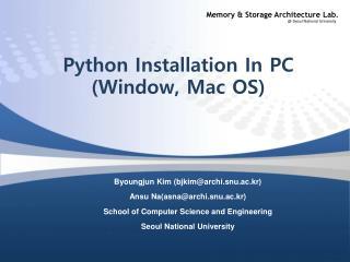Python Installation In PC (Window, Mac OS)