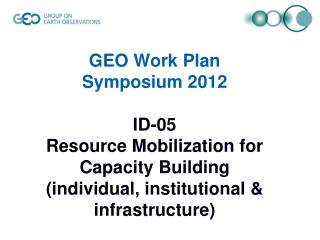 Scope of Task ID-05-C1 Expected Achievements by 2015 MARKETING = PROMOTION + CAPACITY BUILDING