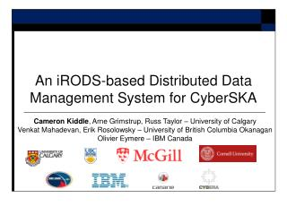 An iRODS-based Distributed Data Management System for CyberSKA