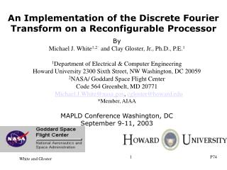 An Implementation of the Discrete Fourier Transform on a Reconfigurable Processor