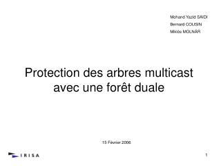Protection des arbres multicast avec une forêt duale