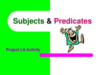 Subjects  Predicates