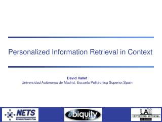 Personalized Information Retrieval in Context