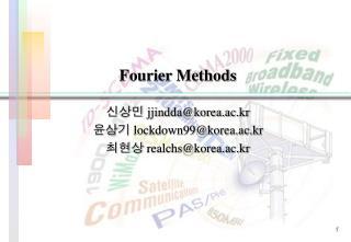 Fourier Methods
