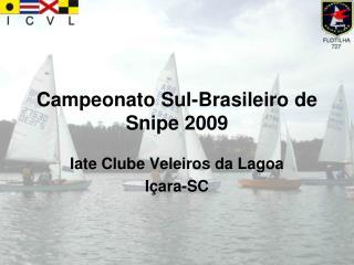 Campeonato Sul-Brasileiro de Snipe 2009