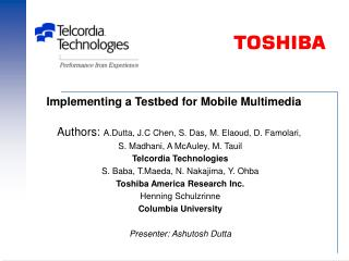 Implementing a Testbed for Mobile Multimedia
