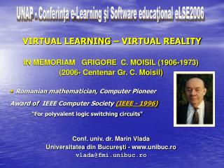 VIRTUAL LEARNING – VIRTUAL REALITY