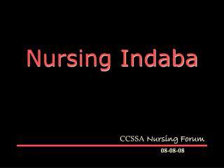 Nursing Indaba