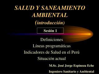 SALUD Y SANEAMIENTO AMBIENTAL ( introducción)
