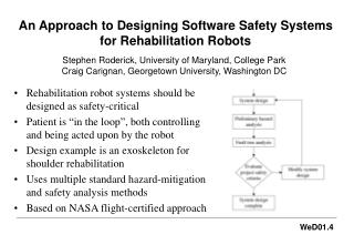 An Approach to Designing Software Safety Systems for Rehabilitation Robots