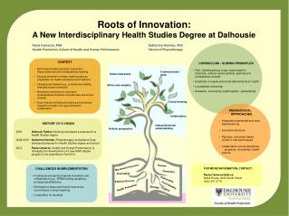 Roots of Innovation: A New Interdisciplinary Health Studies Degree at Dalhousie
