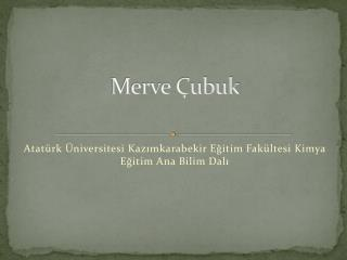 Merve Çubuk