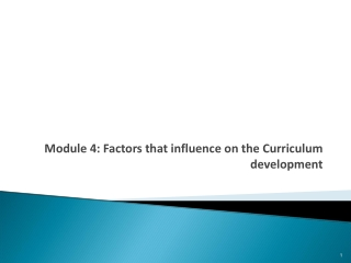 Curriculum:   Development and Evaluation