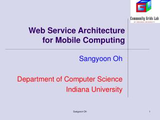 Web Service Architecture  for Mobile Computing