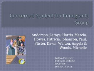 Concerned Student for Immigrants Group