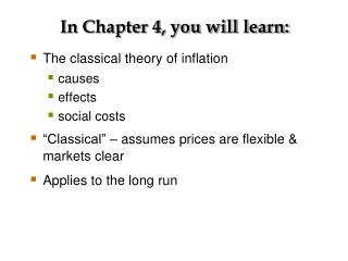 In Chapter 4, you will learn: