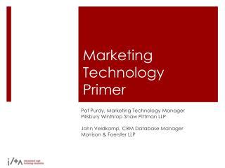 Marketing Technology Primer
