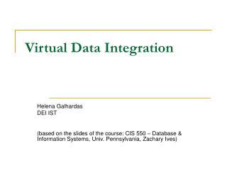 Virtual Data Integration
