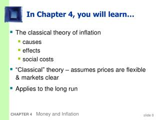 In Chapter 4, you will learn…