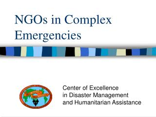 NGOs in Complex Emergencies