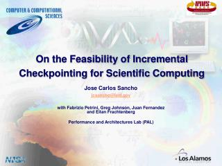 On the Feasibility of Incremental Checkpointing for Scientific Computing