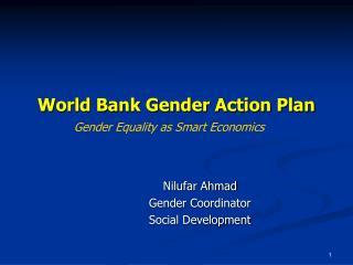 World Bank Gender Action Plan