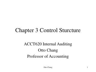 Chapter 3 Control Sturcture