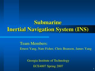 Submarine Inertial Navigation System (INS)