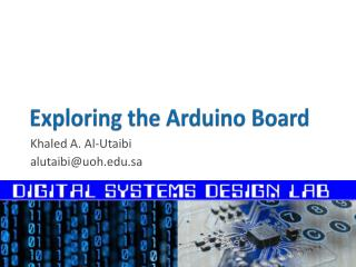 Exploring the  Arduino  Board