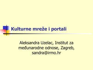 Kulturne mreže i portali