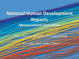National Human Development Reports Measurement Innovation
