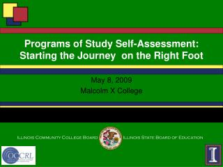 Programs of Study Self-Assessment: Starting the Journey  on the Right Foot